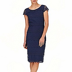 Phase Eight - Navy maura lace tiered dress