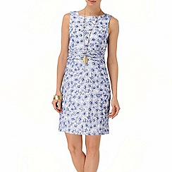 Phase Eight - Periwinkle and White anneka floral embroidered shift dress