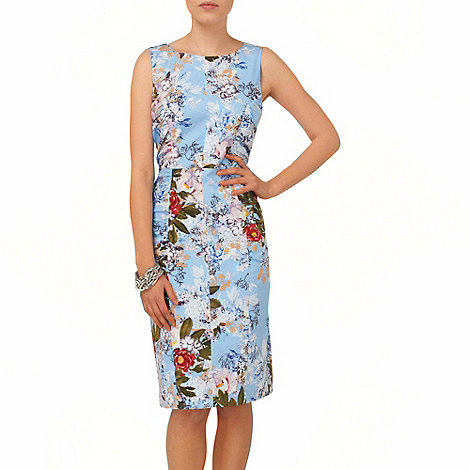 Phase Eight - Blue mara floral printed shift dress