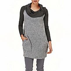 Phase Eight - Grey michela mix knit dress