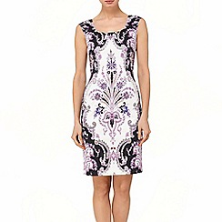 Phase Eight - Black and Orchid rhiannon paisley dress