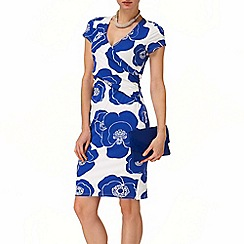 Phase Eight - Periwinkle and White claudia dress