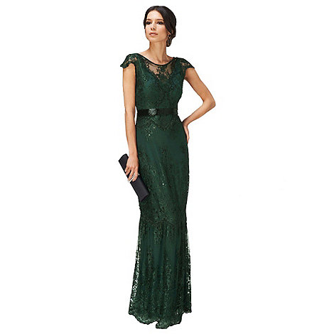 Phase Eight - Collection 8 forest cindy lace full length dress