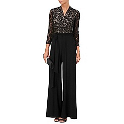 Phase Eight - Black and Nude saskia lace jumpsuit