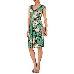 Phase Eight - Multi-coloured botanical print dress