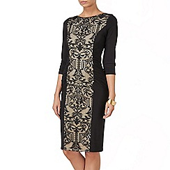 Phase Eight - Black and Nude sophiane lace dress