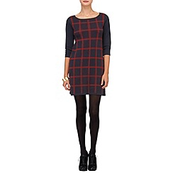 Phase Eight - Navy and Red cara check dress