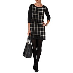 Phase Eight - Black and Stone cara check dress