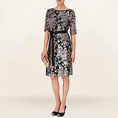 Phase Eight - Black and Silver Sofia Embellished Dress