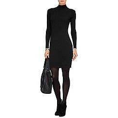 Phase Eight - Black rita roll neck dress