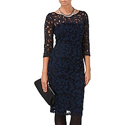 Phase Eight - Black and Navy bethany filigree lace dress