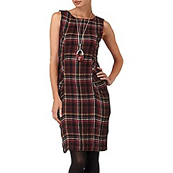 Phase Eight - Burgundy michelle tartan dress