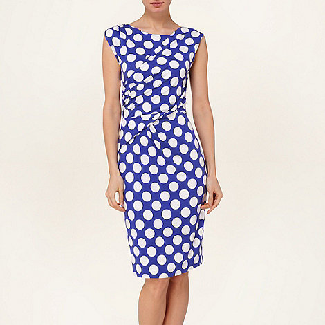 Phase Eight - Periwinkle and White sicily spot dress