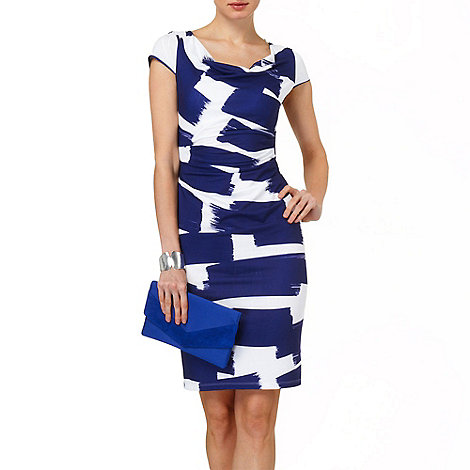 Phase Eight - Navy and Ivory annie abstract dress