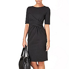 Phase Eight - Charcoal penny side ruched dress