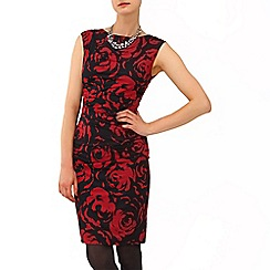 Phase Eight - Black and Scarlet serenity rose dress