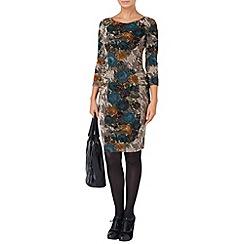 Phase Eight - Multi-coloured zita flocked dress