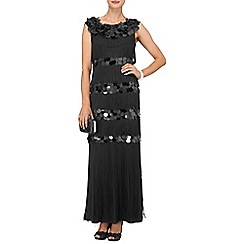 Phase Eight - Black noleen fringed maxi dress