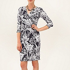 Phase Eight - Charcoal and Ivory berkley wrap dress