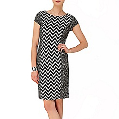 Phase Eight - Black and Cream Delta Dress