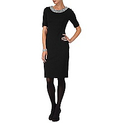 Phase Eight - Black crystal beaded dress