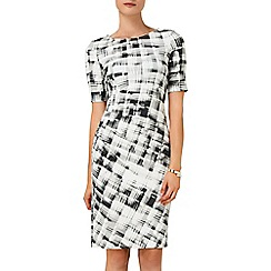 Phase Eight - Ivory and black caley check dress