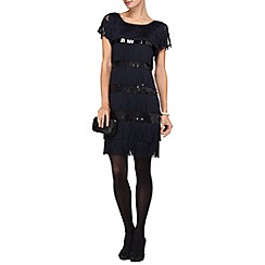 Phase Eight - Midnight renata fringe dress