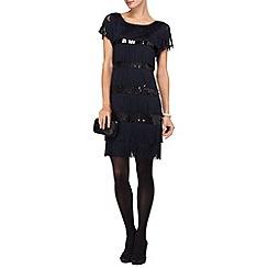 Phase Eight - Midnight renata fringe dress
