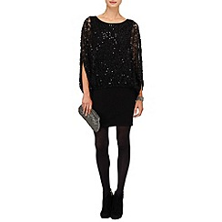 Phase Eight - Black serrina sequin knit dress