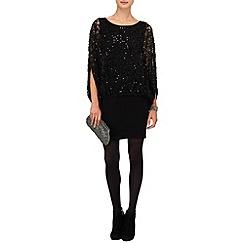 Phase Eight - Black serrina sequin knit dress