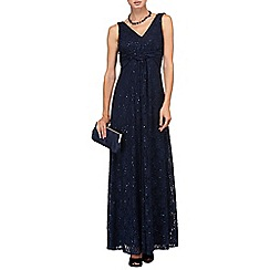 Phase Eight - Midnight shimmer lace maxi dress