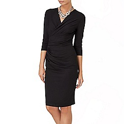 Phase Eight - Black rhia wrap dress