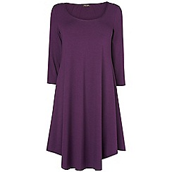 Phase Eight - Grape terrie trapeze dress