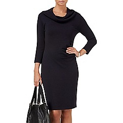 Phase Eight - Navy carlie cowl knit dress