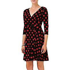 Phase Eight - Black and Red philly spot dress