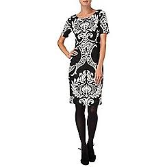 Phase Eight - Black and ivory eva dress
