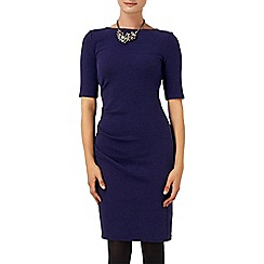 Phase Eight - Navy tabby textured dress