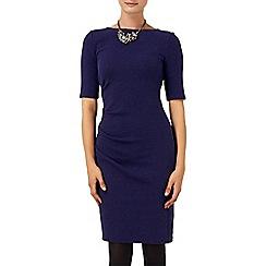 Phase Eight - Navy tabby textured dress