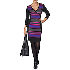 Phase Eight - Multi-coloured gracey wrap illusion dress