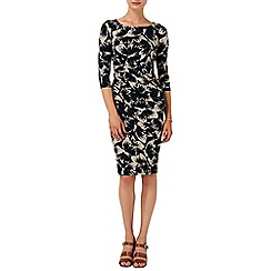 Phase Eight - Navy and Stone bonnie butterfly dress