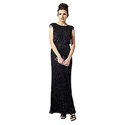 Phase Eight - Black gerona fringe beaded full length dress