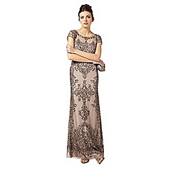 Phase Eight - Collection 8 bronze zita embellished full length dress
