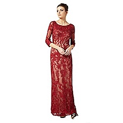 Phase Eight - Collection 8 ruby and nude constansie tapework full length dress