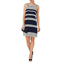 Phase Eight - Navy and Cream simone layered dress