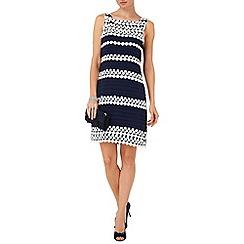 Phase Eight - Navy and Cream simone layered dress