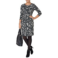 Phase Eight - Black and champagne myra jacquard dress