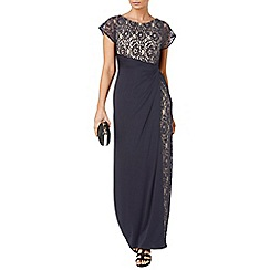 Phase Eight - Navy raquel lace maxi dress