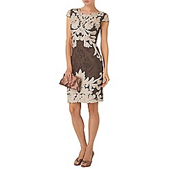Phase Eight - Praline and Cream venizia tapework dress