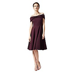 Phase Eight - Blackcurrant odette grosgrain dress