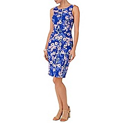 Phase Eight - Blue and multi ruby floral shift dress